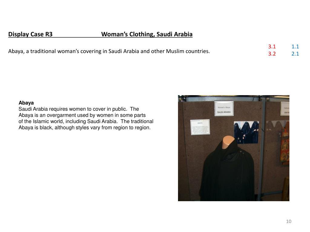 Display Case R3Woman's Clothing, Saudi Arabia