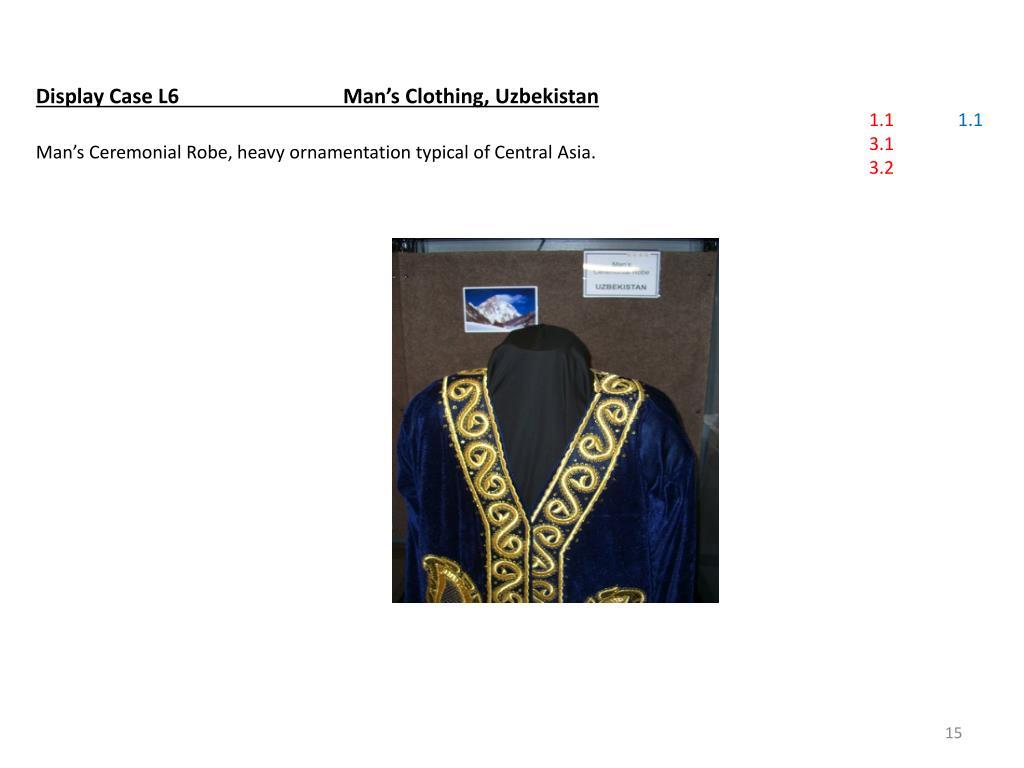 Display Case L6Man's Clothing, Uzbekistan