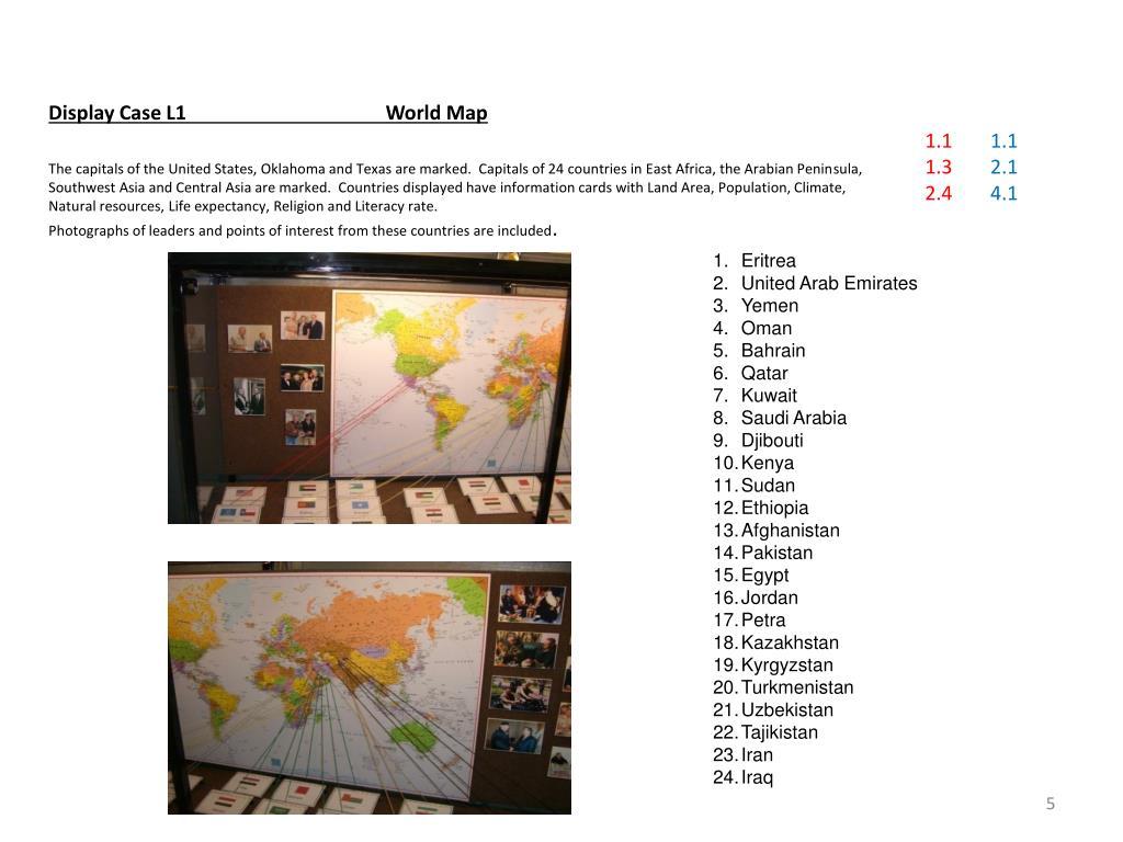 Display Case L1World Map