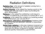 radiation definitions