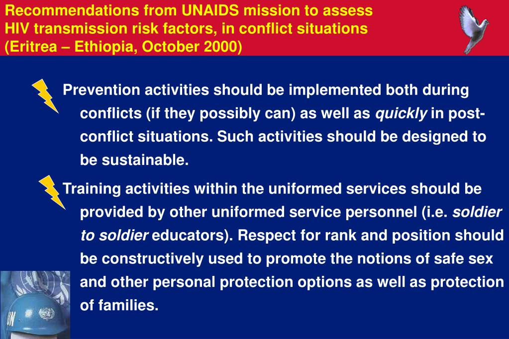 Prevention activities should be implemented both during conflicts (if they possibly can) as well as