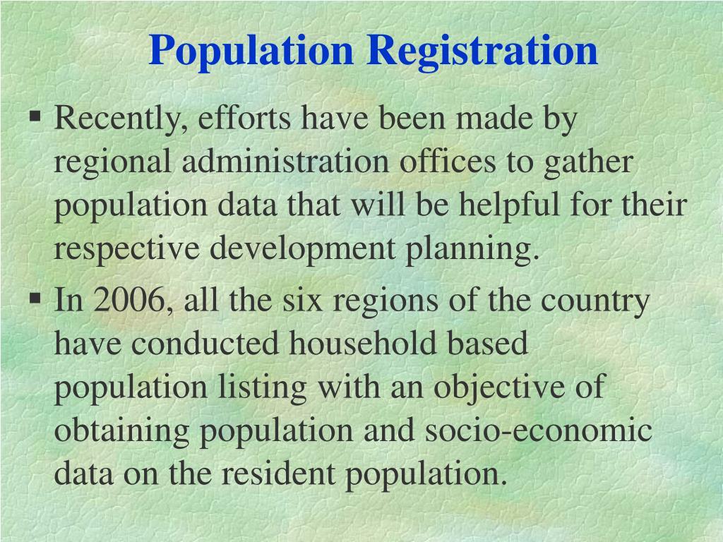 Population Registration