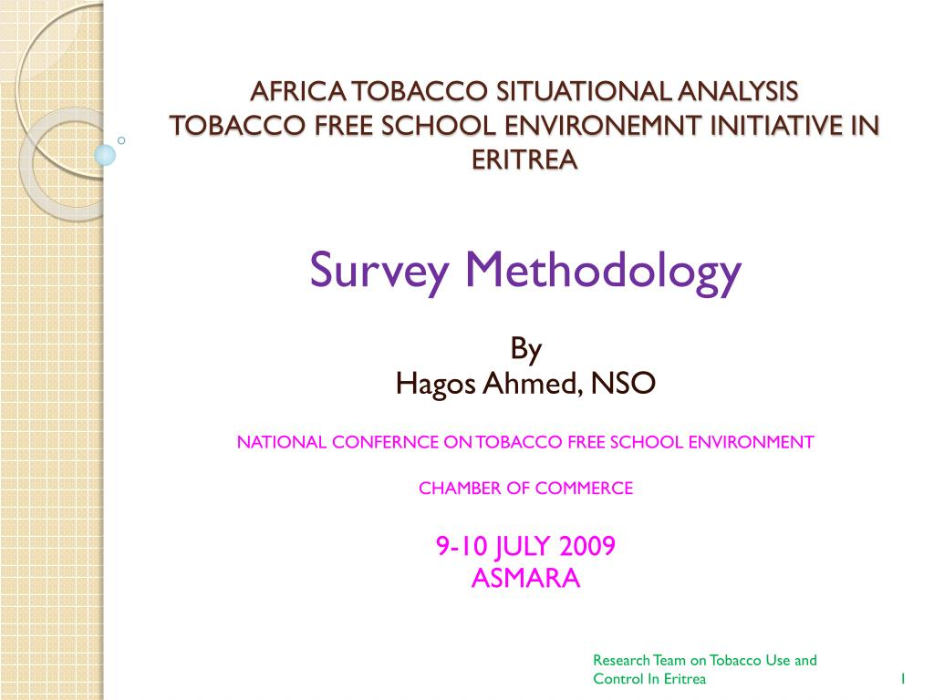 africa tobacco situational analysis tobacco free school environemnt initiative in eritrea