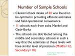 number of sample schools
