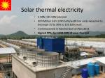 solar thermal electricity