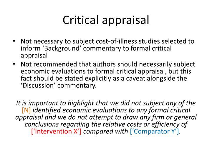 Critical appraisa
