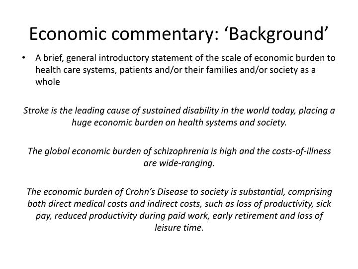Economic commentary: 'Background'