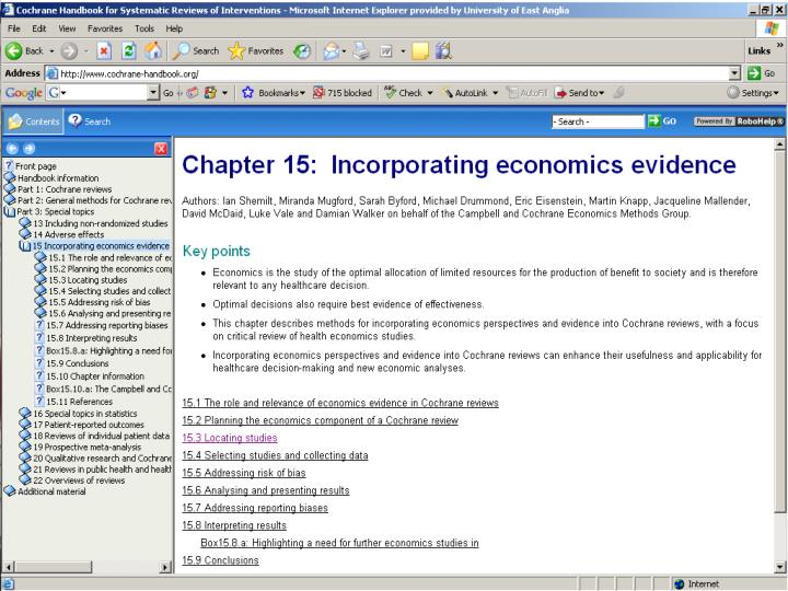 How to develop brief economic commentaries for cochrane intervention reviews cirs