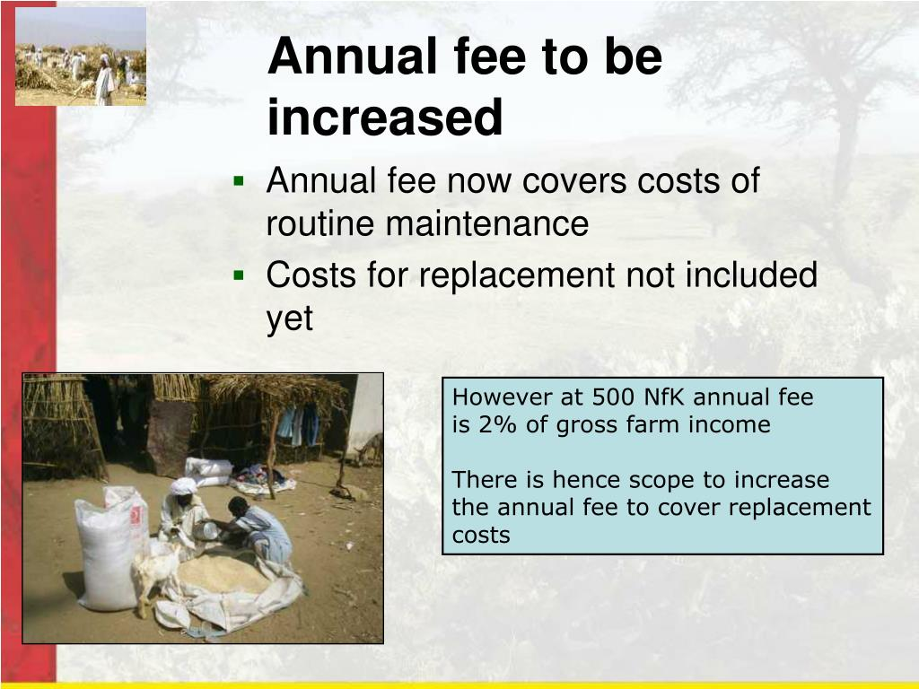 Annual fee to be increased