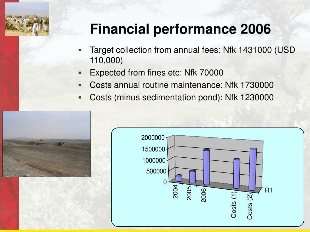Financial performance 2006