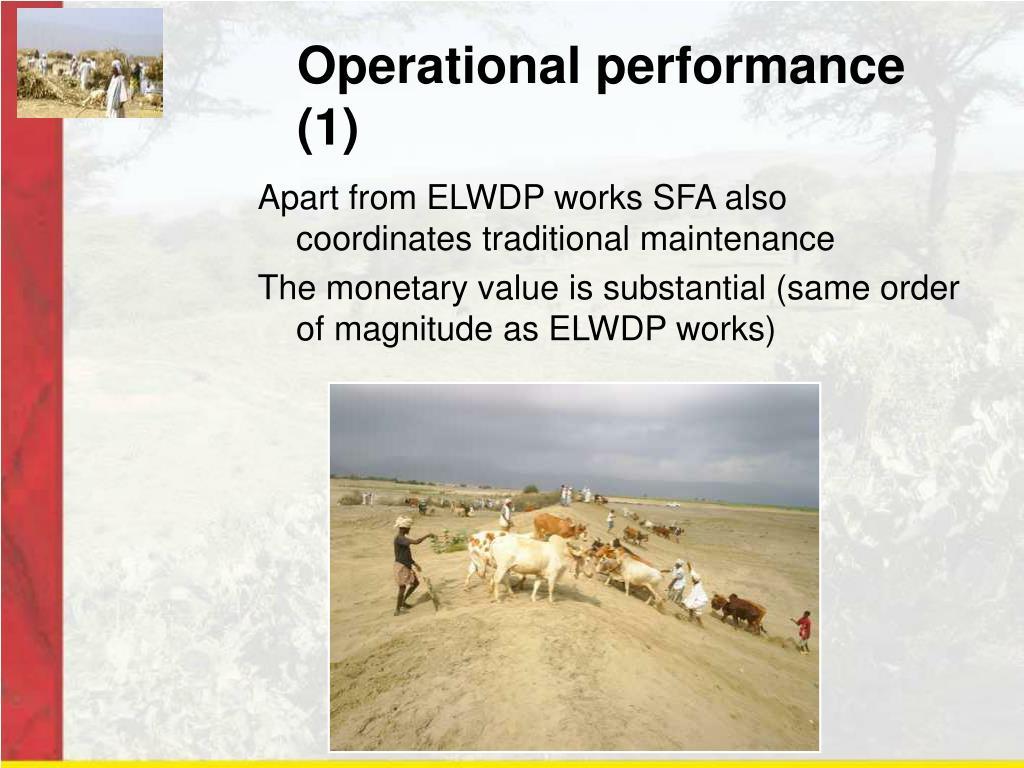 Operational performance (1)
