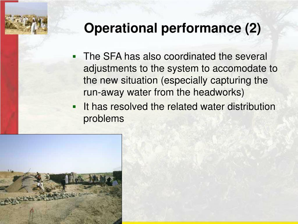 Operational performance (2)