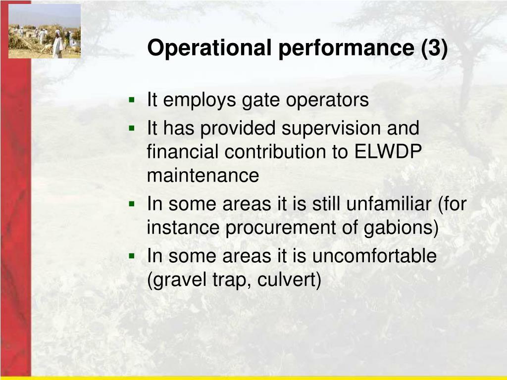 Operational performance (3)