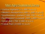 main agro ecological zones