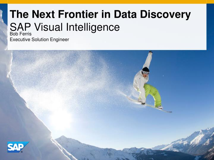 the next frontier in data discovery sap visual intelligence n.