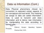 data vs information cont
