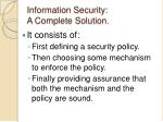 information security a complete solution