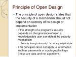 principle of open design