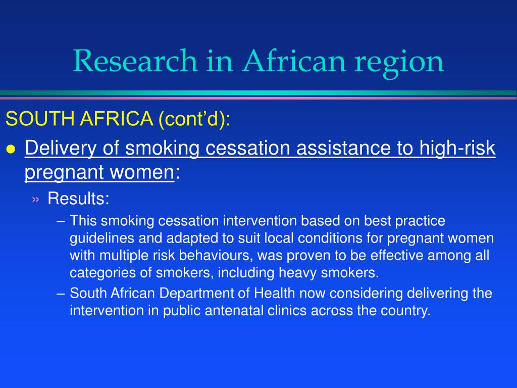 Research in African region