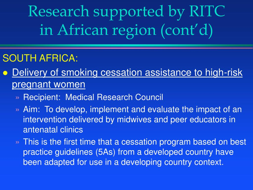 Research supported by RITC