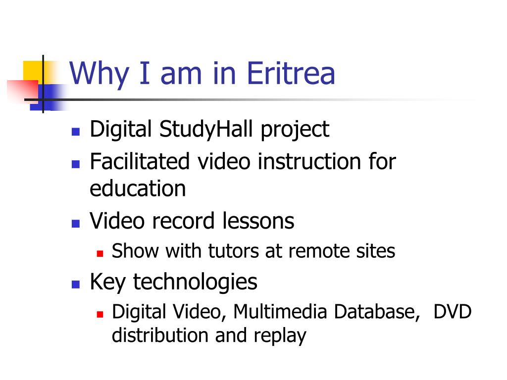 Why I am in Eritrea
