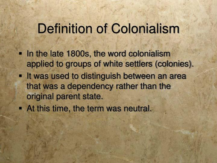 Definition of colonialism
