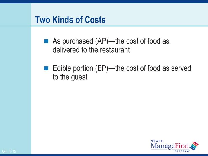 Two Kinds of Costs