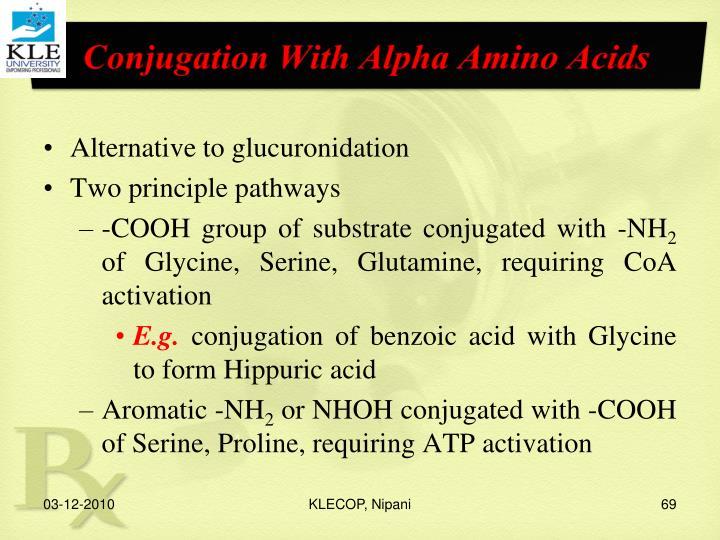 Conjugation With Alpha Amino Acids