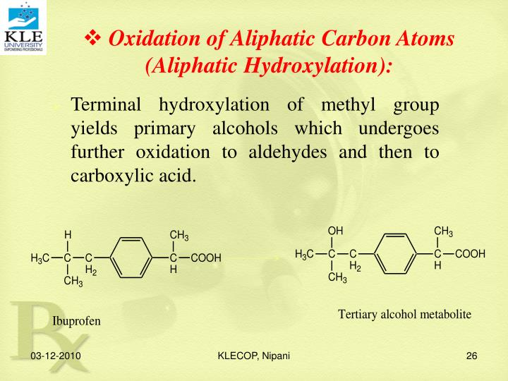 Oxidation of Aliphatic Carbon Atoms
