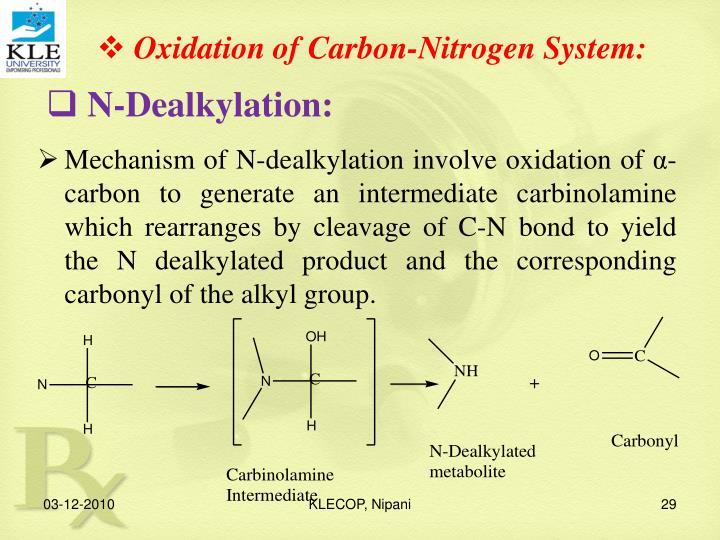 Oxidation of Carbon-Nitrogen System:
