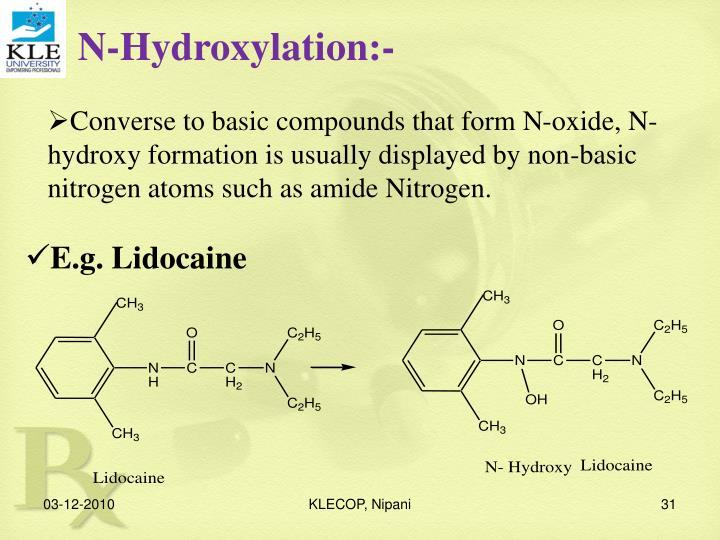 N-Hydroxylation:-