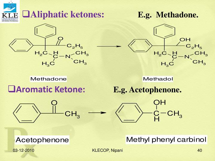 Aliphatic ketones: