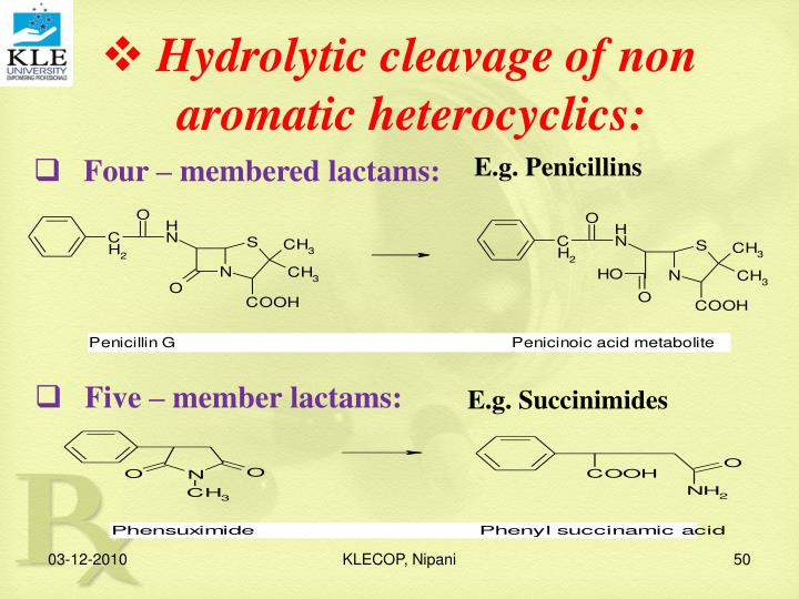 Hydrolytic cleavage of non