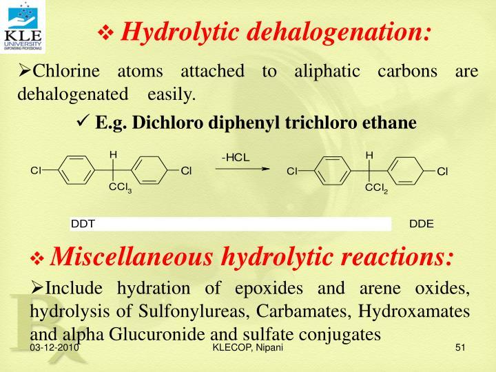 Hydrolytic dehalogenation: