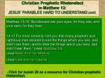 christian prophetic rhetorolect in matthew 13 jesus parables hard to understand cont
