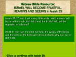hebrew bible resource israel will become fruitful hearing and seeing in isaiah 29