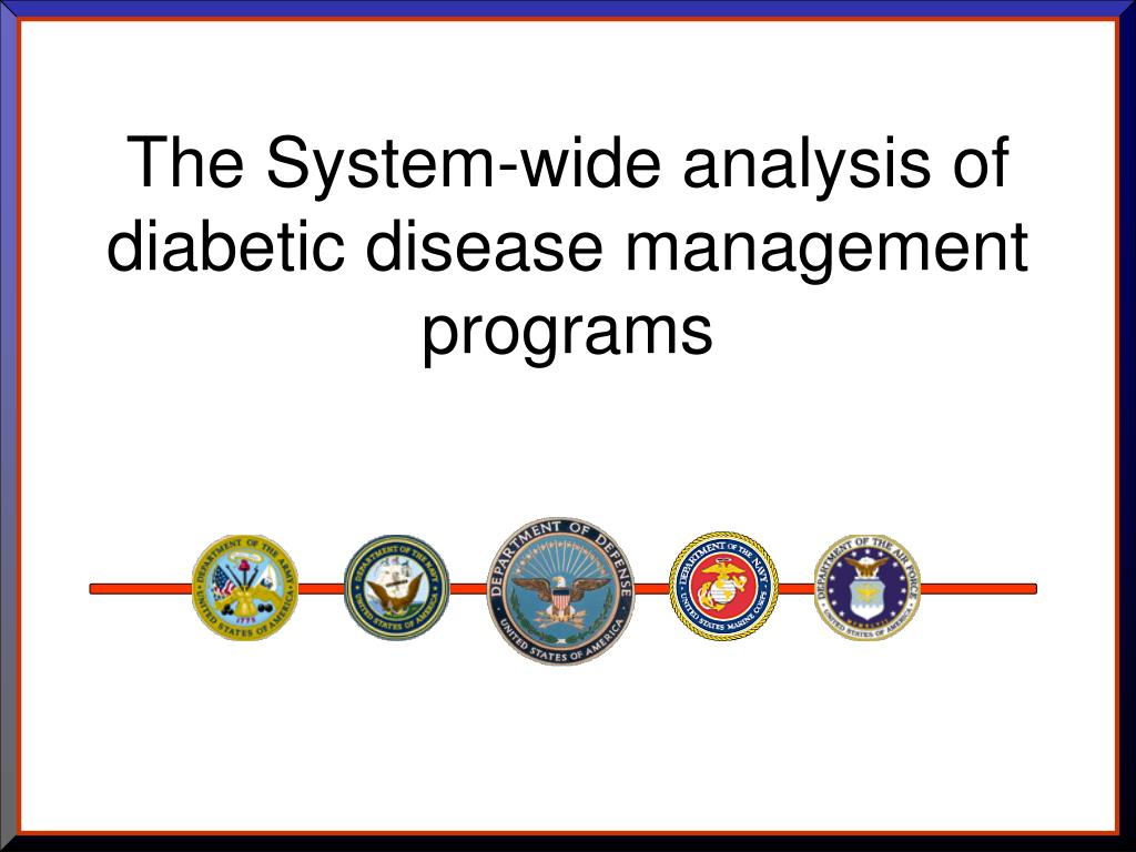 The System-wide analysis of diabetic disease management programs