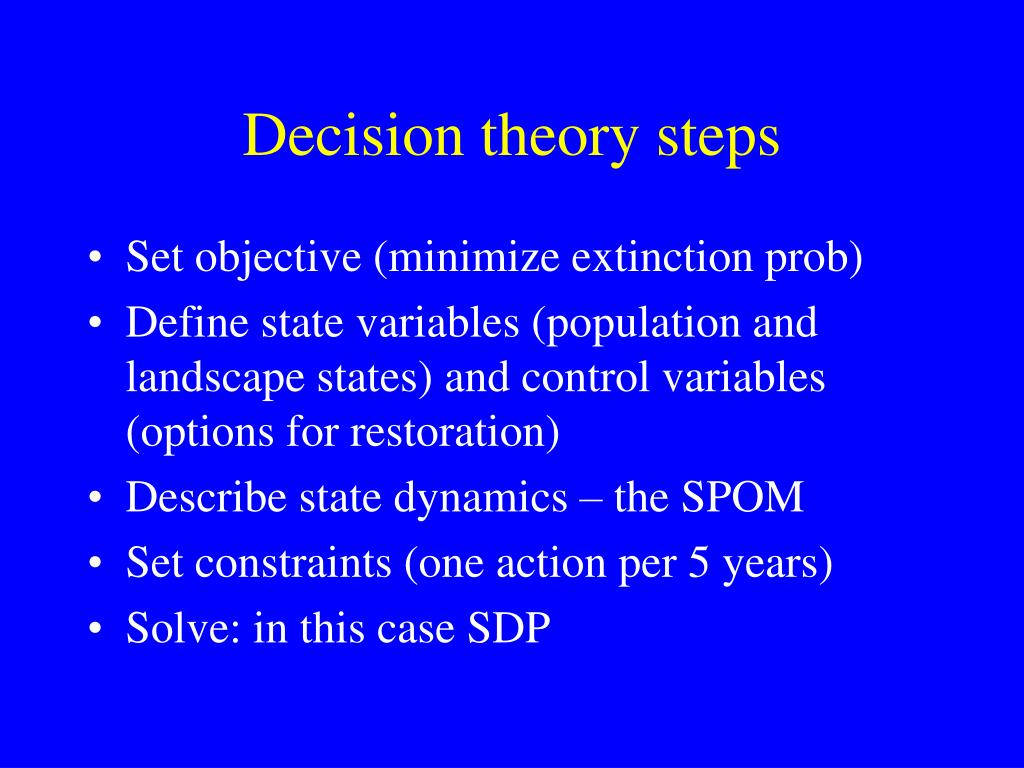 Decision theory steps