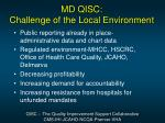 md qisc challenge of the local environment