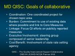 md qisc goals of collaborative