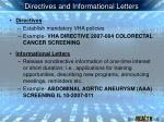 directives and informational letters