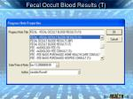 fecal occult blood results t