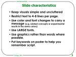 slide characteristics