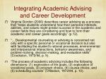 integrating academic advising and career development