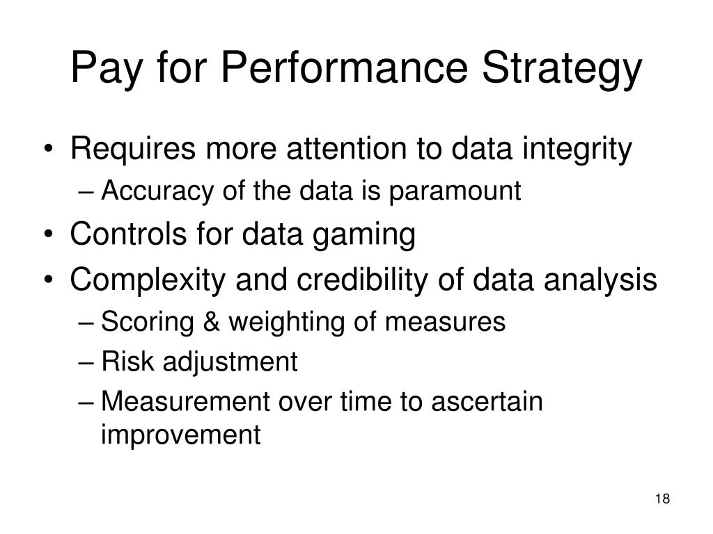 Pay for Performance Strategy