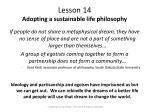 lesson 14 adopting a sustainable life philosophy