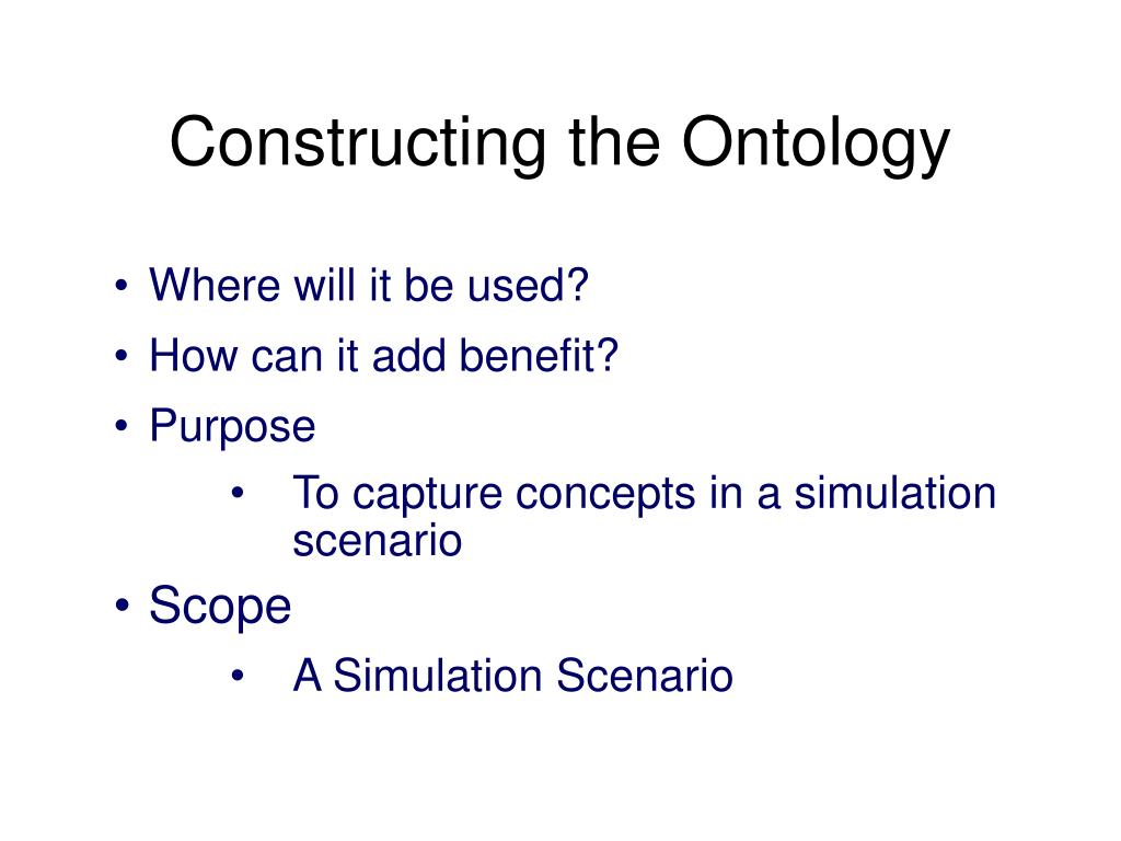 Constructing the Ontology