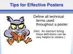 tips for effective posters22