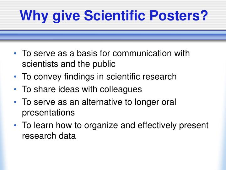 Why give scientific posters3
