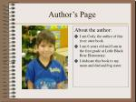 author s page